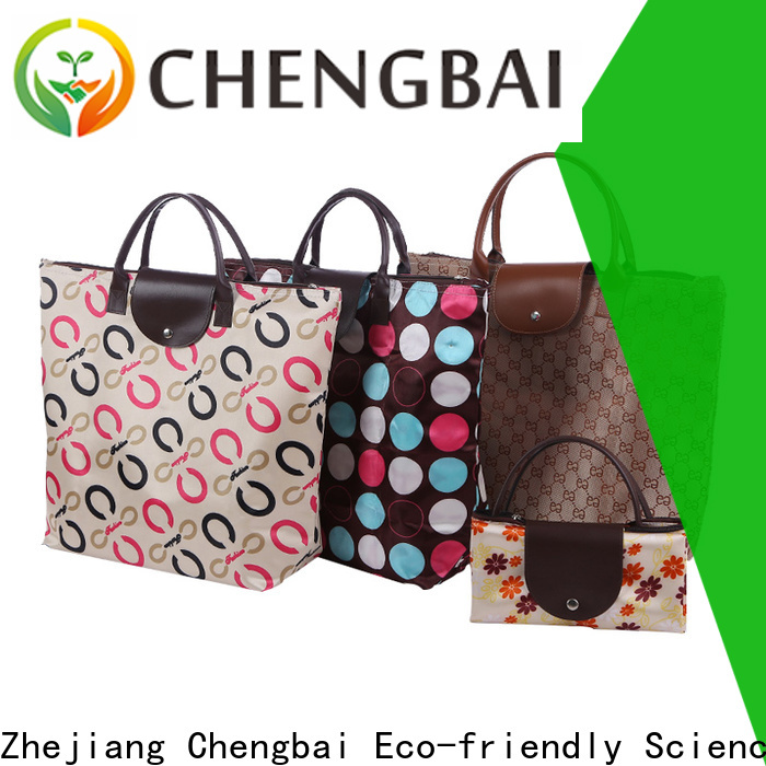 Chengbai Top folding shopping bags for business for daily necessities
