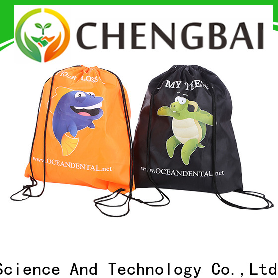 Chengbai black reusable polyester bags Suppliers for packing