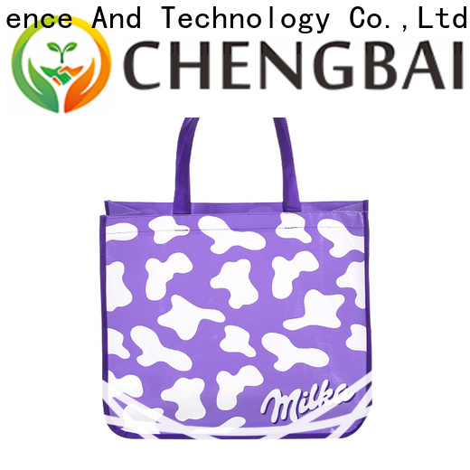 Chengbai folding non woven carry bags manufacturing process awarded supplier for packing