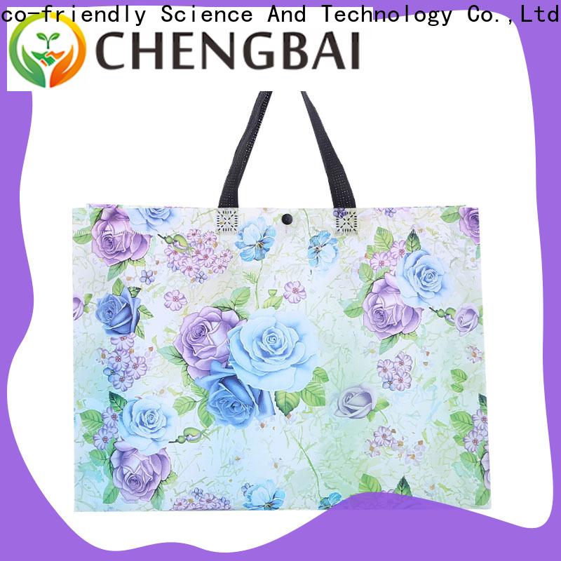 Chengbai metallic pvc woven bag factory for promotion