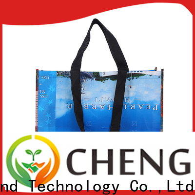 Chengbai tote woven plastic tote bag awarded supplier for advertising