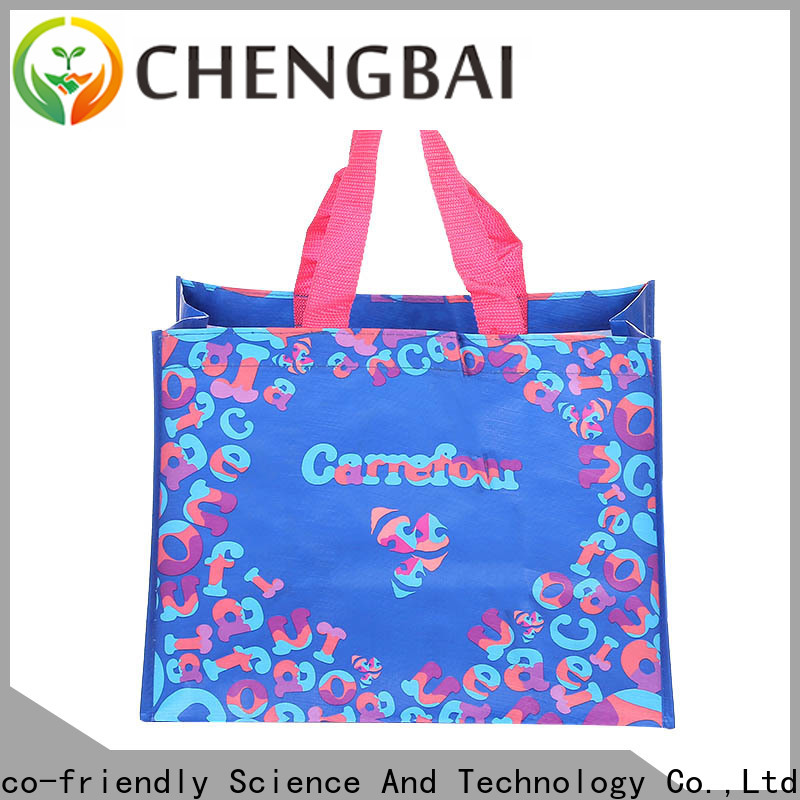 Chengbai tote wholesale pp woven bags company for packing