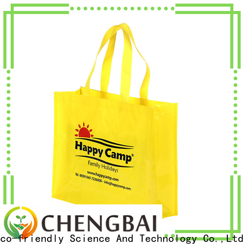 Chengbai laminated pp woven tote bag Suppliers for daily necessities