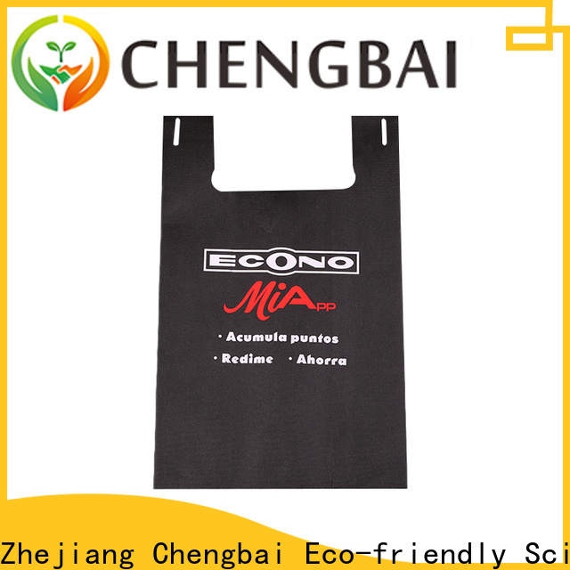 customized black non woven bags ultrasonic wholesale for shopping
