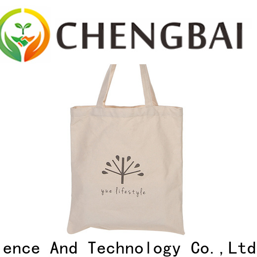 fashion canvas shopping bag reusable manufacturers for daily necessities