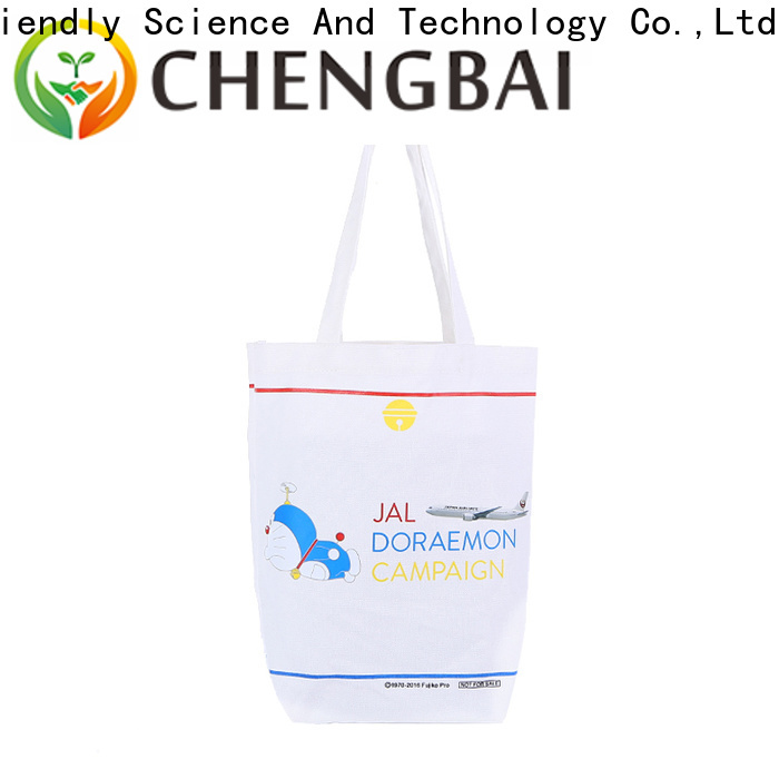 Chengbai promotional cotton tote international market for daily using