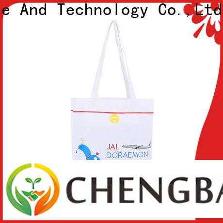 Chengbai print organic cotton tote bags international market for gift