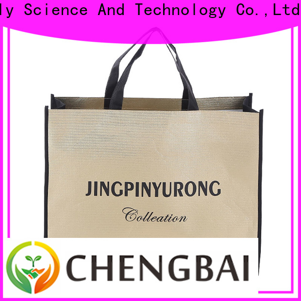 Chengbai Latest woven and nonwoven bags factory for shopping