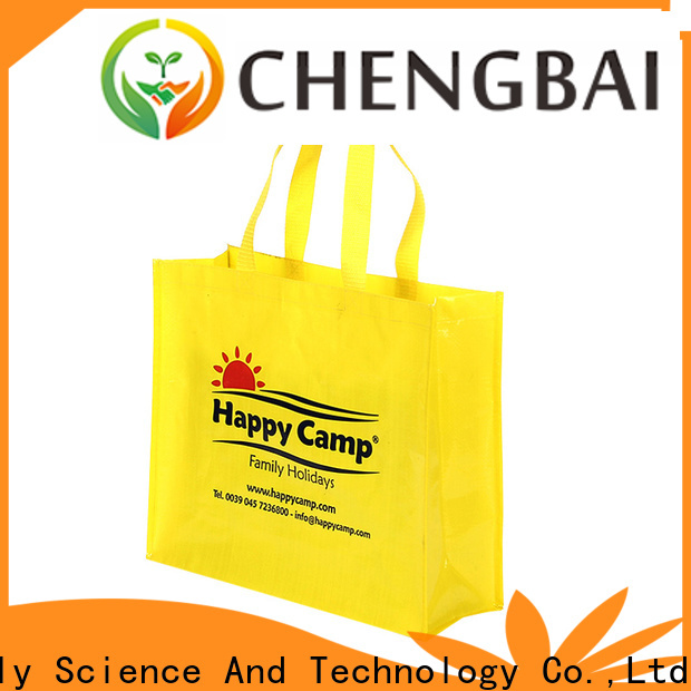 Chengbai eco-friendly pp woven fabric bags manufacturers for daily necessities