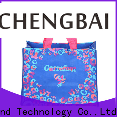 Chengbai advertising pp woven bags Suppliers for packing