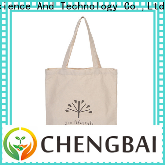 Chengbai quality cotton tote bag for business for daily using