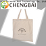 Chengbai durable cotton shopping bag win-win cooperation for daily necessities